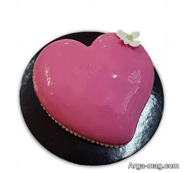 مدل های زیبا از تزیینات کیک قلبی شکل با ژله