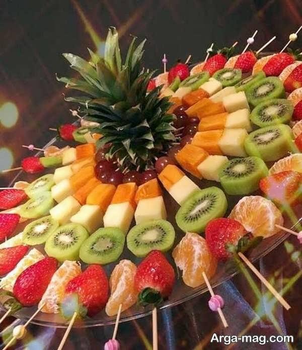 جذاب ترین تزیین میوه با سیخ چوبی