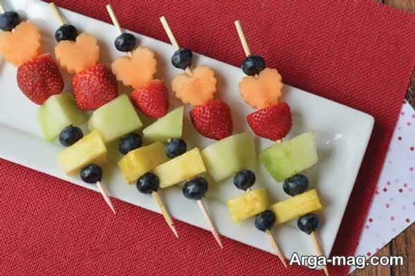 میوه آرایی قشنگ با سیخ چوبی