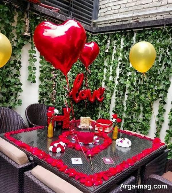 دیزاین خواستنی میز تولد عاشقانه