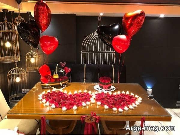 تزیینات میز تولد عاشقانه با طراحی زیبا