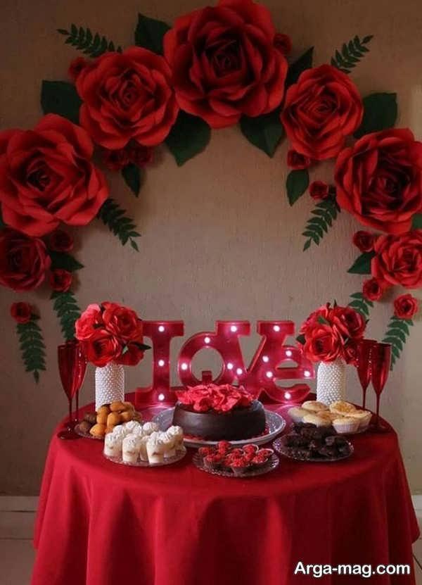 تزیینات میز تولد عاشقانه با طراحی قشنگ