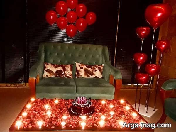 تزیینات میز تولد عاشقانه با طراحی لاکچری