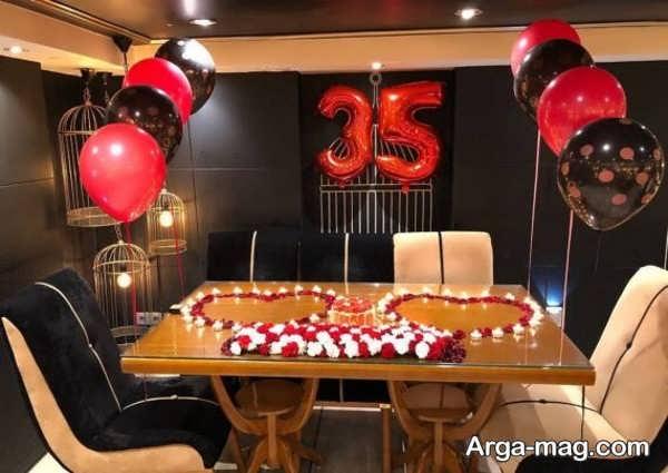 قشنگ ترین تزیین میز تولد