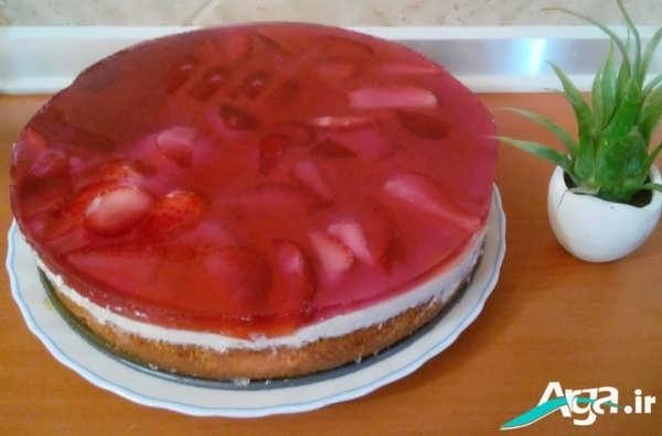 تزیین ساده کیک با ژله