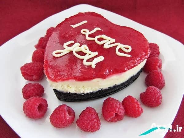 تزیین بسیار زیبای کیک قلبی با ژله