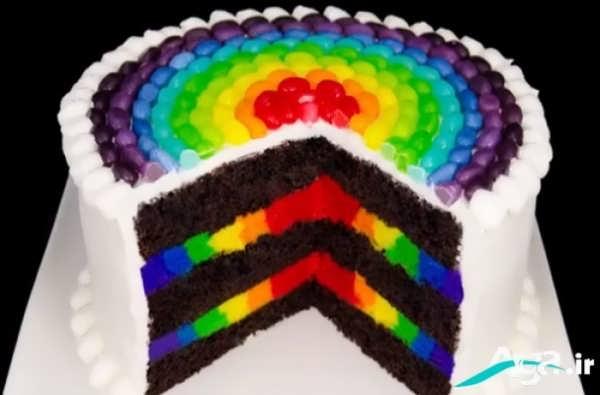 کیک ژله ای رنگین کمان