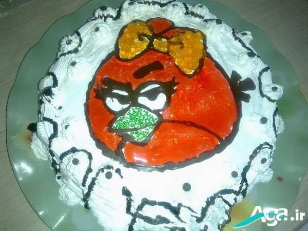 تزیین کیک کودکان با انگری برد