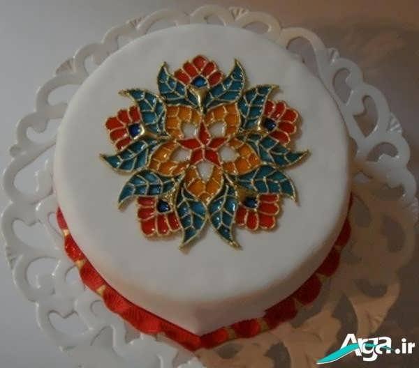 تزیین کیک تولد به شکل با انواع ژله ها