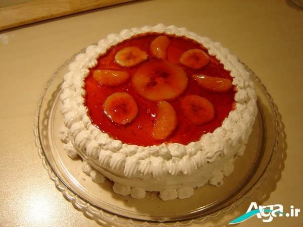 کیک تولد با روکش ژله ای