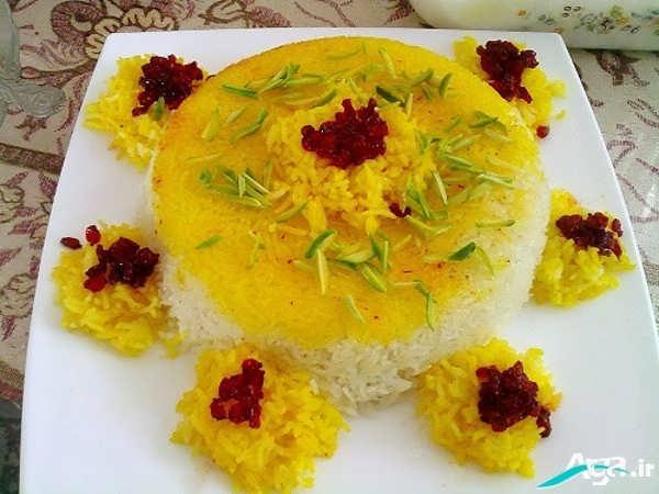 تزیین برنج زیبا