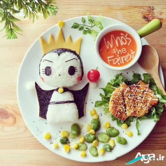 تزیین زیبای غذای کودک