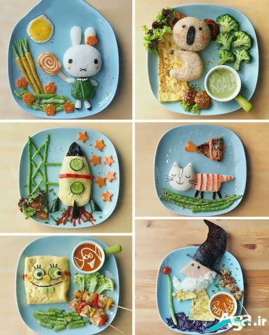 تزیین غذا با ایده های خلاقانه