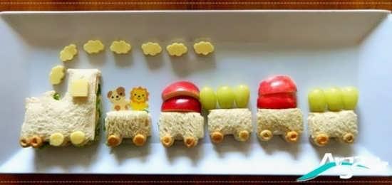 تزیین ساندویچ برای کودکان