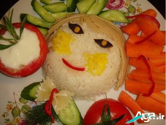 تزیین برنج یه شکل عروسکی