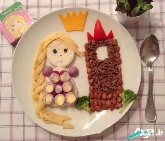 تزیین غذای کودک به شکل خلاقانه