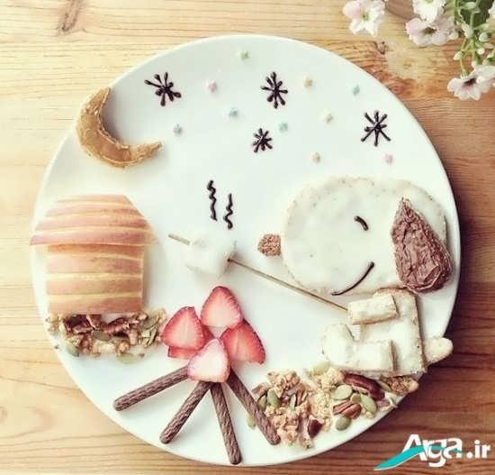 تزیین متفاوت وزیبای غذای کودک