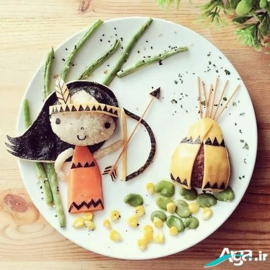 انواع تزیینات غذا برای کودکان