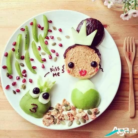 مدل تزیین غذای کودک