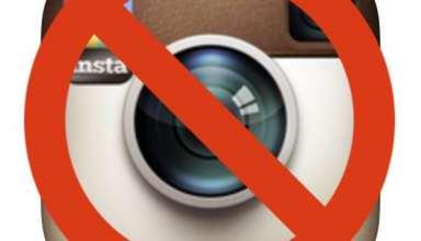 حذف اینستاگرام