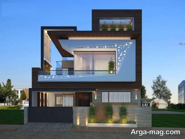 نمای منازل مدرن دو طبقه