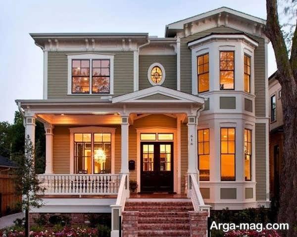 نمای قشنگ خانه های دوبلکس