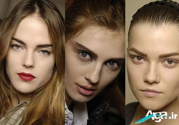 سه مدل ابرو دخترانه
