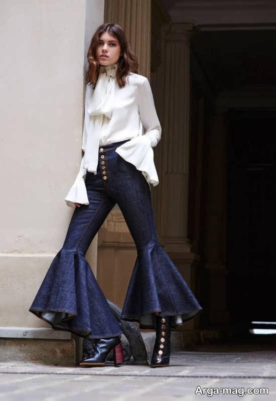 مدل شلوار دخترانه جدید و زیبا با تن پوش شیک