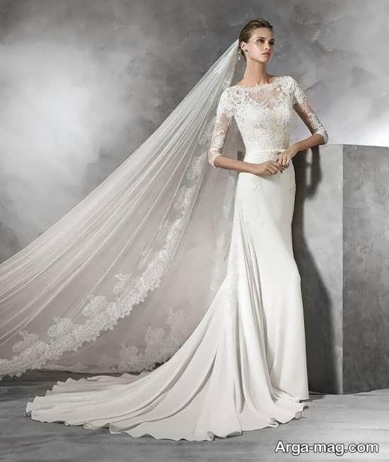 لباس عروس گیپور با طراحی زیبا