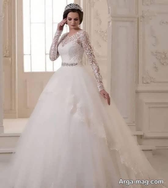 لباس عروس گیپوردار فوق العاده