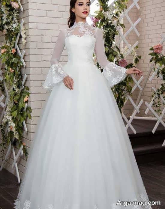مدل لباس عروس ایده آل گیپوردار