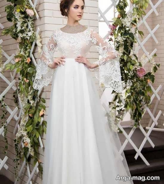 مدل لباس عروس دیدنی گیپوردار