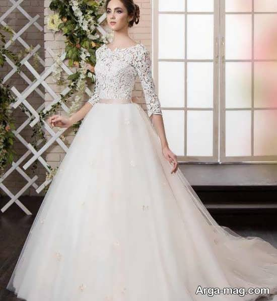 مدل لباس عروس باحال گیپوردار