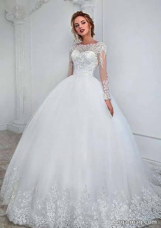 مدل لباس عروس مدرن گیپوردار
