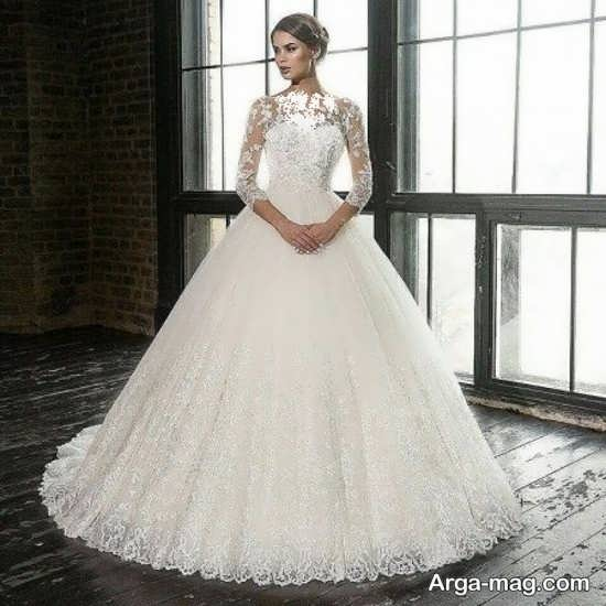لباس عروس گیپوردار زیبا