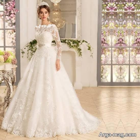 لباس عروس گیپوردار جدید
