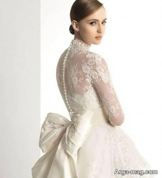لباس عروس گیپوردار دیدنی