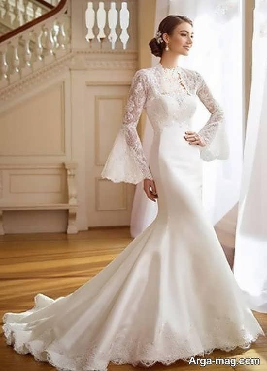 لباس عروس گیپوردار منحصر به فرد