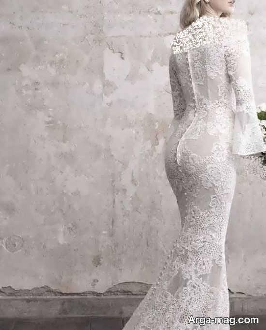 لباس عروس گیپوردار تماشایی
