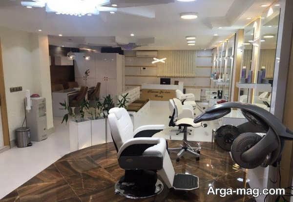 دکور آرایشگاه زنانه لاکچری