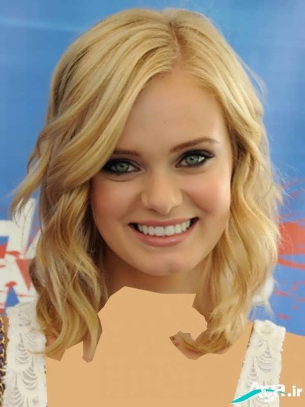 انواع مدل های مو کوتاه و بلند باری صورت های گرد