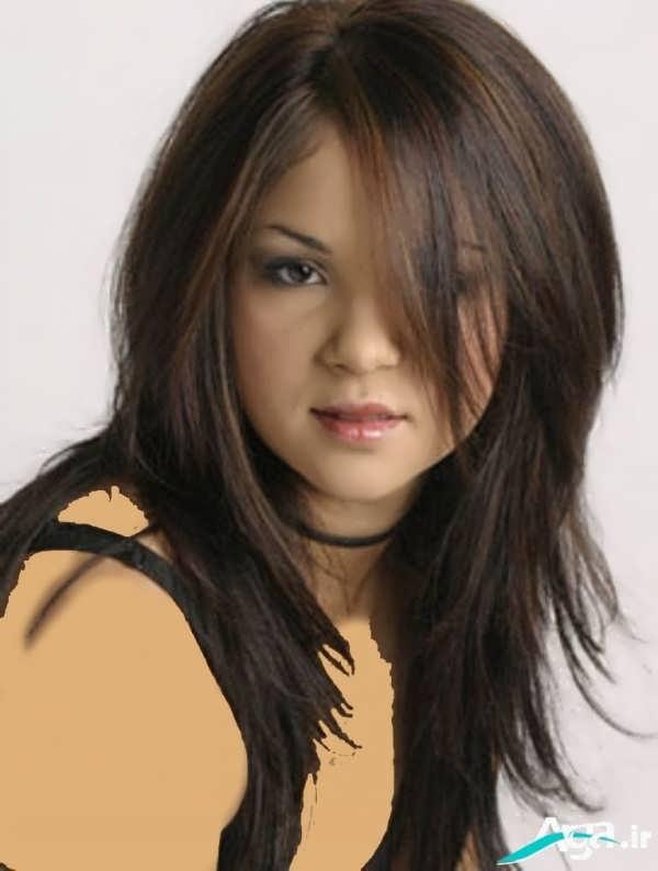 مدل مو بلند مخصوص صورت های گرد