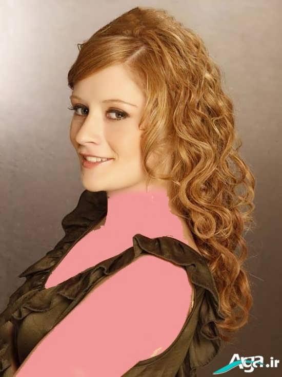 رنگ موی عسلی برای موهای بلند