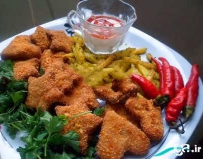 طرز تهیه ناگت مرغ خوش طعم و لذیذ