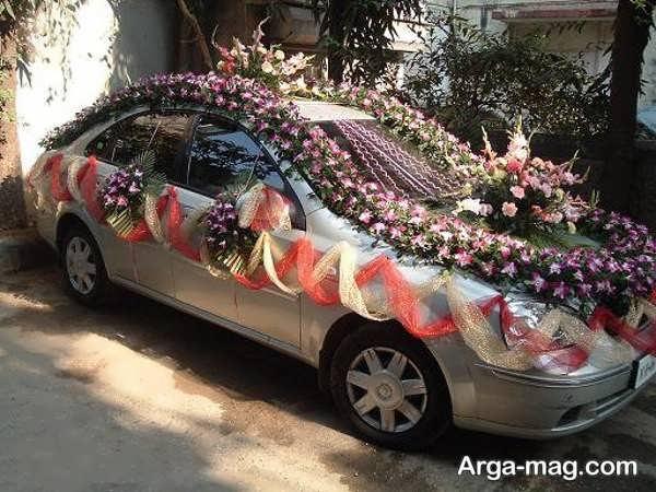 ماشین عروس با تزییناتی شیک