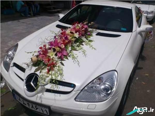 ماشین عروس با گل مصنوعی