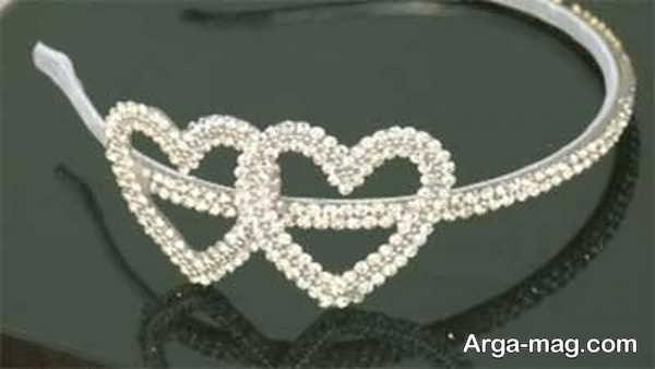 مدل قلبی شکل تاج عروس