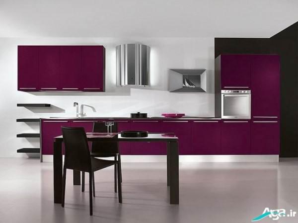مدل آشپزخانه بنفش