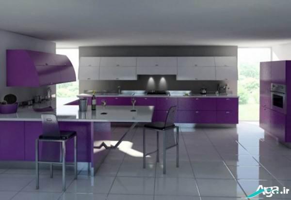 دکور آشپزخانه بنفش