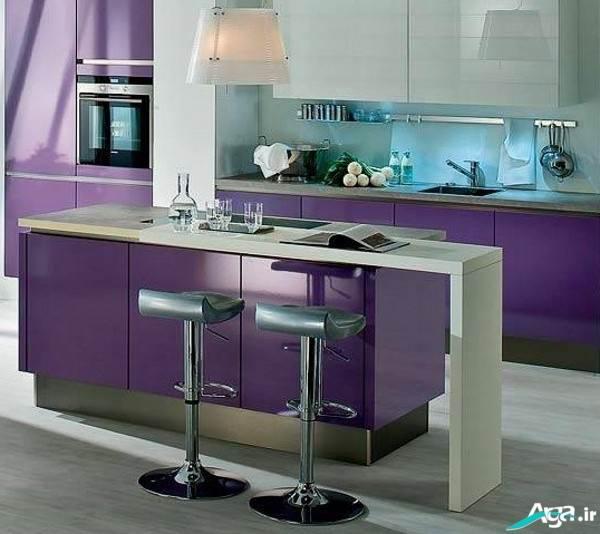 دکوراسیو ن داخلی آشپزخانه بنفش